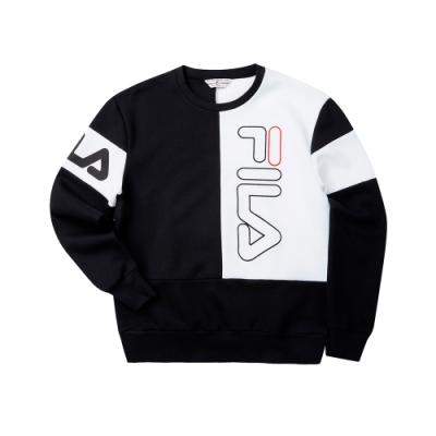 FILA #LINEA ITALIA 長袖圓領T恤-黑 1TET-5406-BK