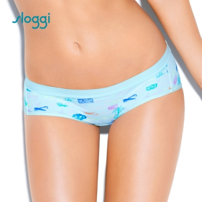 sloggi Adventure 繽紛樂冒險系列平口內褲 淺藍