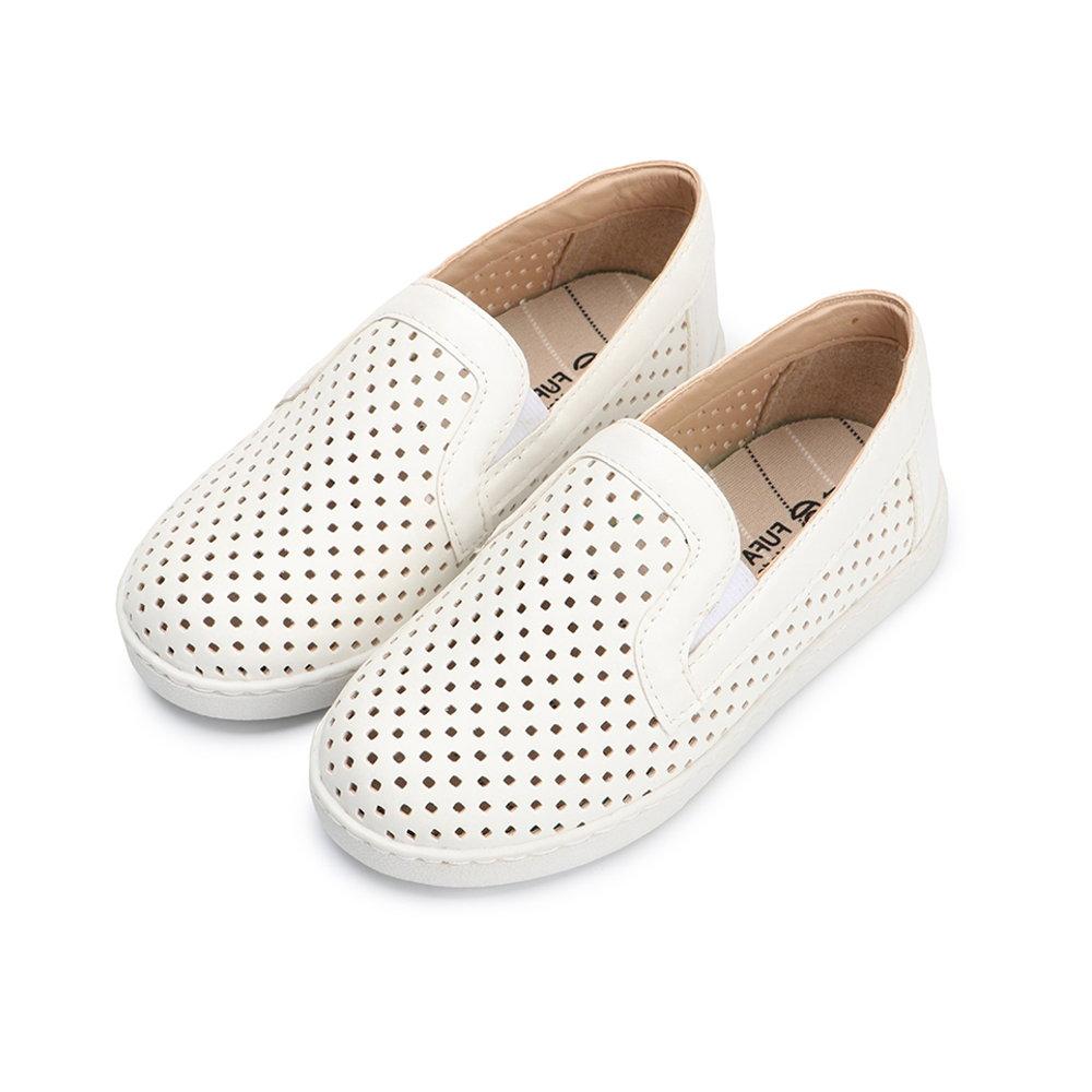 BuyGlasses 百搭休閒透氣童款懶人鞋-白