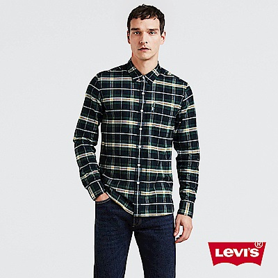 Levis 格紋襯衫 男裝 無口袋 休閒版型