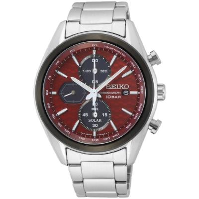 SEIKO精工 CS系列 喬治亞羅設計 太陽能三眼計時手錶-41.2mm(V176-0BH0R/SSC771P1)
