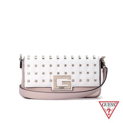 GUESS-女包-方形鉚釘大G時尚肩背包-粉 原價2490