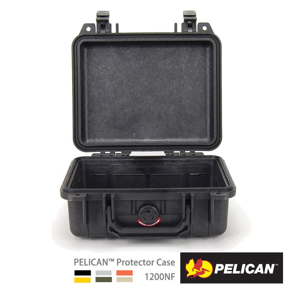 美國 PELICAN 1200NF 氣密箱-空箱(黑)