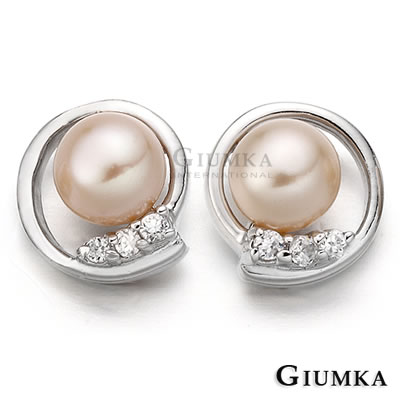 GIUMKA 典藏珍愛珍珠耳環針式鍍正白K-共2色