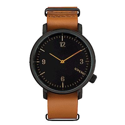 KOMONO Magnus II 馬格斯二世系列腕錶-干邑褐/45mm