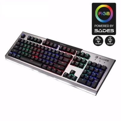 SADES賽德斯 DAMASCUS 大馬士革刀 RGB巨集機械式電競鍵盤 (青軸)