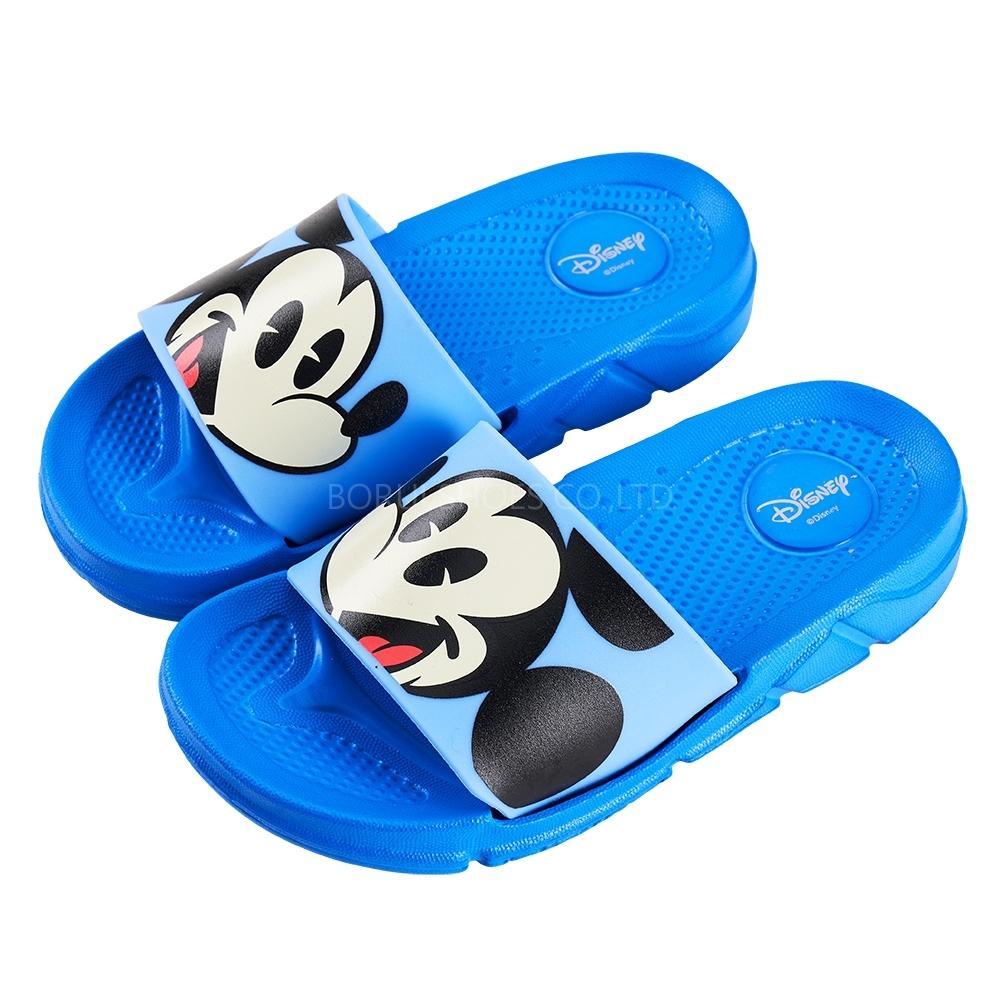 迪士尼童鞋 米奇 卡通造型防水拖鞋-藍(柏睿鞋業)