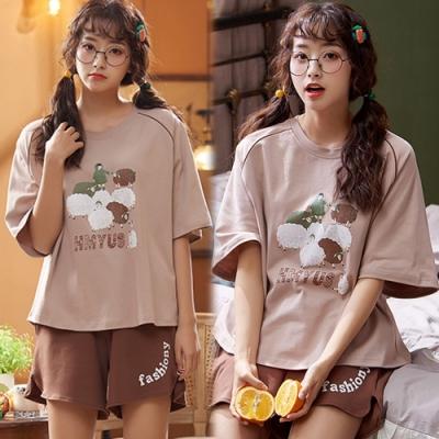 【韓國K.W.】(預購)耀眼印花可愛套裝褲-1色