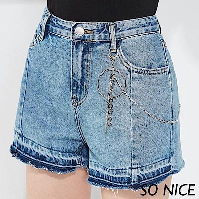 SO NICE率性金屬吊飾牛仔短褲
