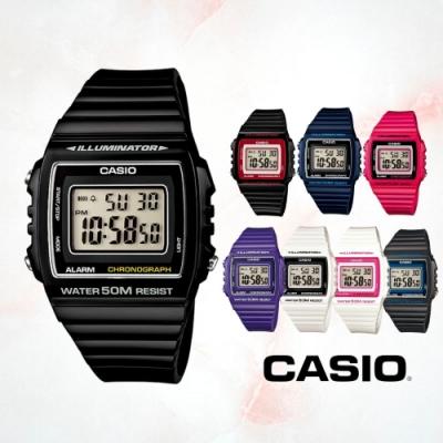 CASIO卡西歐 方形數字電子錶(W-215H)