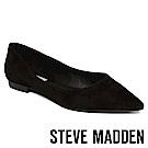 STEVE MADDEN-OTISLY 絨面尖頭低跟鞋-絨黑