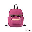 satana - Soldier 豐富日常可拆式後背包 - 霧紫紅
