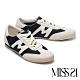 休閒鞋 MISS 21 復古色塊拼接綁帶厚底休閒鞋-黑 product thumbnail 1