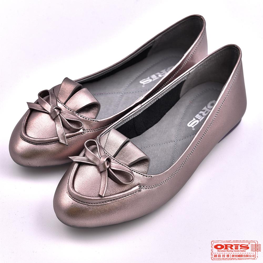 ORIS 女款 柔軟真皮 娃娃鞋 休閒懶人鞋SA17696N10