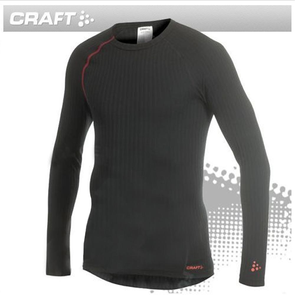Craft Zero Extreme 男長袖圓領排汗衣.排汗內衣.機能型衛生衣_黑/紅線