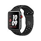 Apple Watch Nike S3 LTE 38mm太空灰鋁金屬殼搭黑色運動錶帶