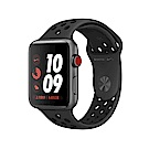 Apple Watch Nike S3 LTE 42mm太空灰鋁金屬殼搭黑色運動錶帶