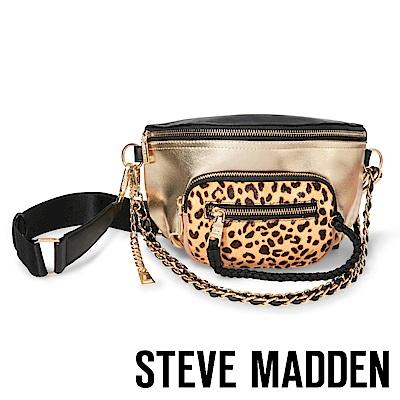 STEVE MADDEN-BSUMMIT-時髦豹紋時尚腰包-金色