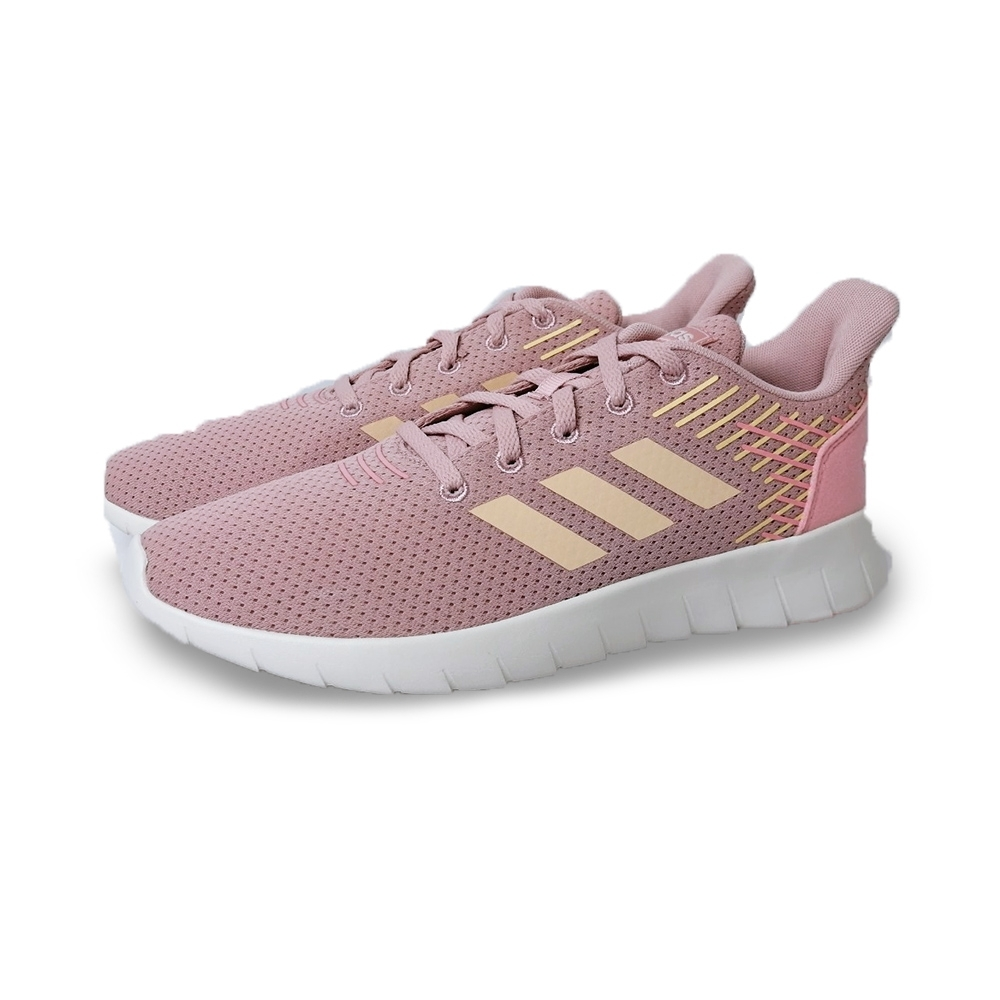 adidas 慢跑鞋 緩震 透氣 運動 休閒 女鞋 粉 EG3185 Asweerun