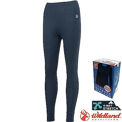 Wildland 荒野 H2673-93深灰色 女Highest彈性保暖褲 發熱褲
