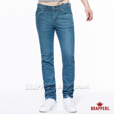 BRAPPERS 男款 HM中腰系列 男用中腰彈性直筒褲-淺藍綠