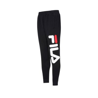 FILA #LINEA ITALIA 針織束口長褲-黑 1PNT-5412-BK