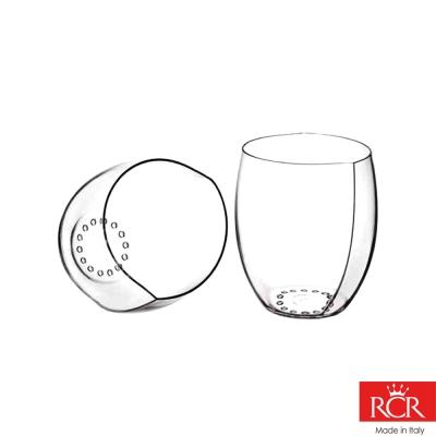 義大利RCR世界得獎無鉛水晶果汁杯( 2 入) 520 cc