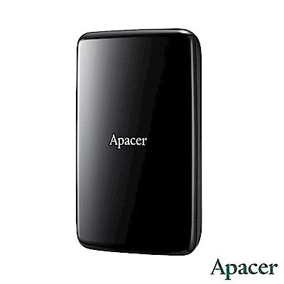 Apacer宇瞻 AC233 2TB USB3.1 2.5吋行動硬碟(暗夜黑)