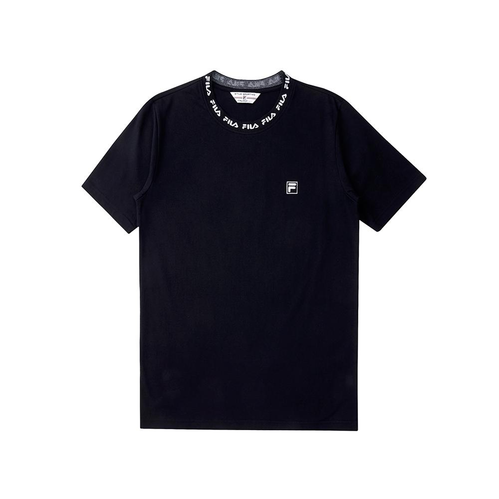 FILA  #尬頑街潮 短袖圓領T恤-黑色 1TEU-5402-BK