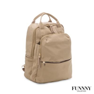 FUNNNY 大容量實用尼龍機能後背包 Alva 卡其