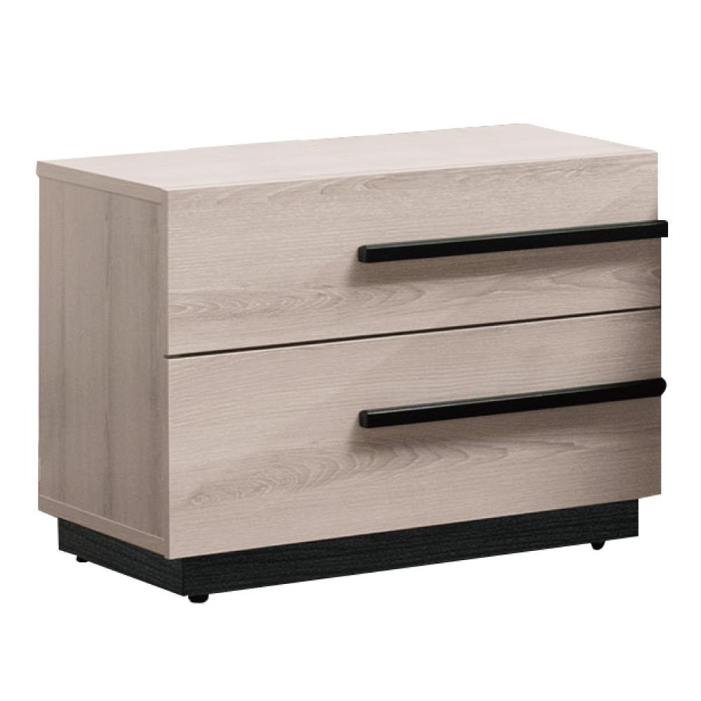 文創集 艾咪時尚1.8尺木紋床頭櫃/收納櫃-54x41x46cm-免組