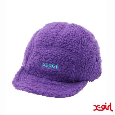 X-girl BOA JET CAP絨毛五分割帽-紫