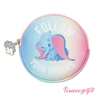 Disney collection by Gracegift小飛象可愛圖案圓形零錢包