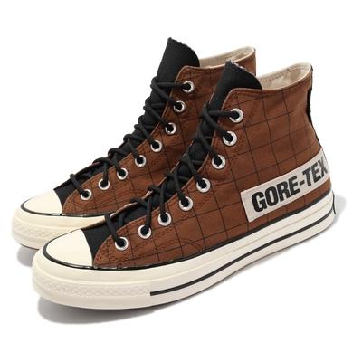 Converse 休閒鞋 Chuck 70 GTX 高筒 男女鞋 黑標 奶油底 防水 格紋 情侶鞋 咖啡 黑 171442C