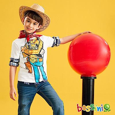 bossini男童-玩具總動員印花T恤-胡迪02灰白