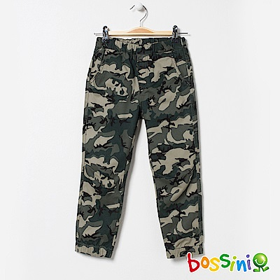 bossini男童-輕鬆束口長褲02橄欖綠