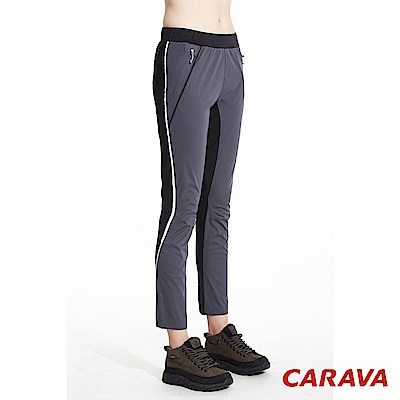 CARAVA女防風慢跑長褲(深灰)