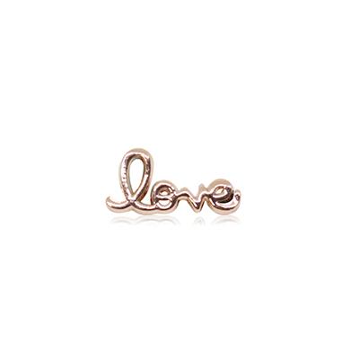 HOURRAE  書寫LOVE字  人氣玫瑰金系列 小飾品