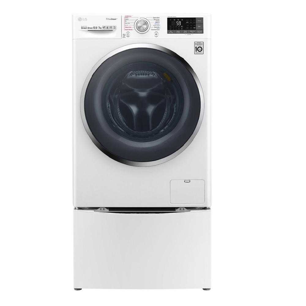 [限時優惠] LG樂金  10.5公斤蒸洗脫烘滾筒洗衣機 WD-S105DW 冰磁白