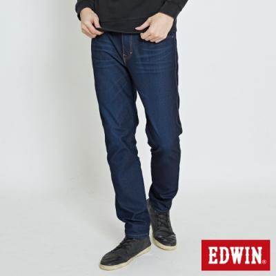 EDWIN 大尺碼 JERSEYS 迦績 3E系列直筒牛仔褲-男-原藍磨
