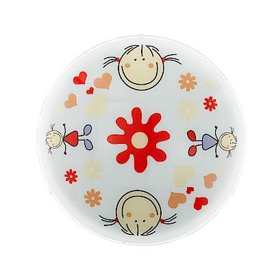 EGLO歐風燈飾 童趣風圓形彩繪壁燈(不含燈泡)