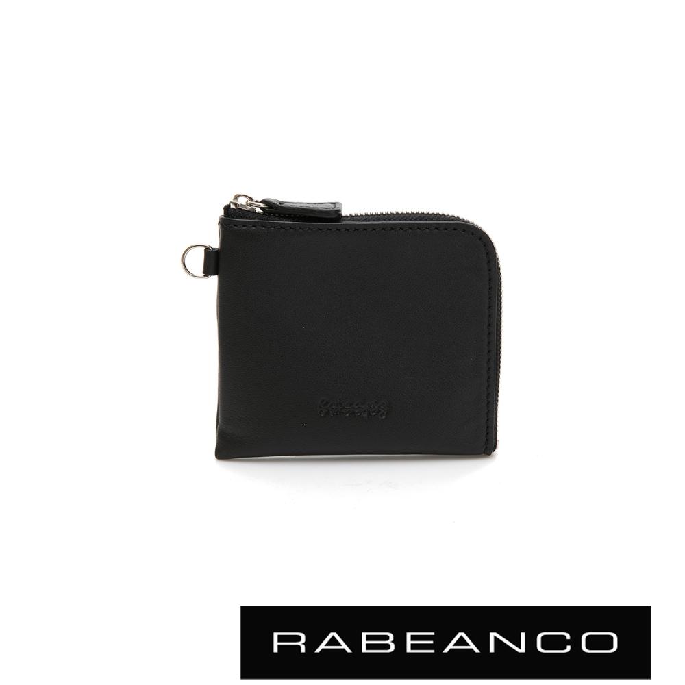 RABEANCO 時尚名品系列拉鍊小零錢包 黑