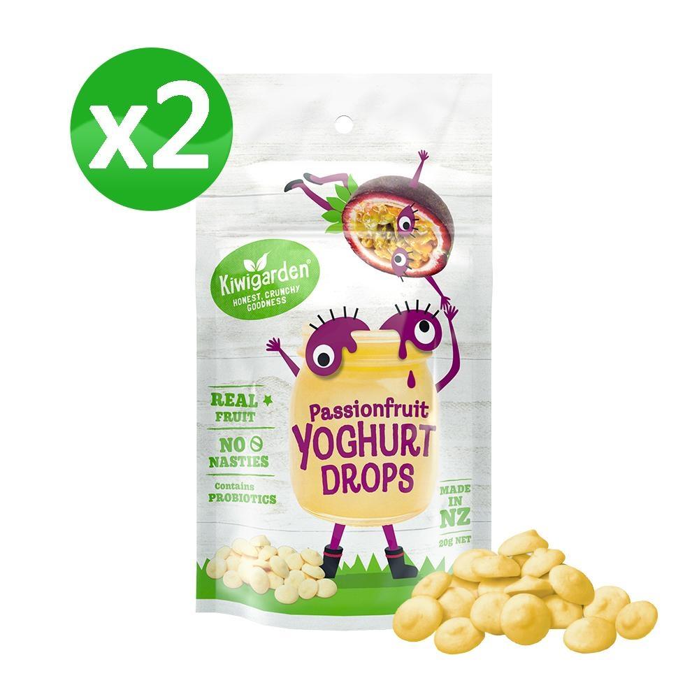【紐西蘭 Kiwigarden】益菌優格豆 百香果 20g/袋*2袋(益生菌/寶寶餅乾球)
