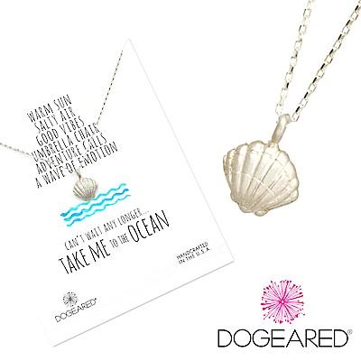 Dogeared 海洋系列 銀色貝殼項鍊 Take me to the ocean附原廠盒