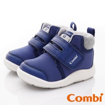 日本Combi童鞋 CORE-S兒童短靴款 B2001BL藍(小童段)