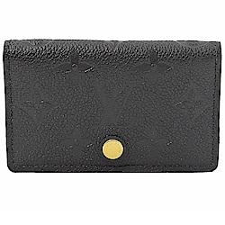 LV M67262 Multicartes經典花紋牛皮對開卡片夾(黑)