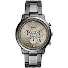 FOSSIL 個性領航者三眼計時錶(FS5492)-灰/44mm