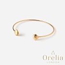 Orelia 英國倫敦 陽光貝殼鍍金開口手環