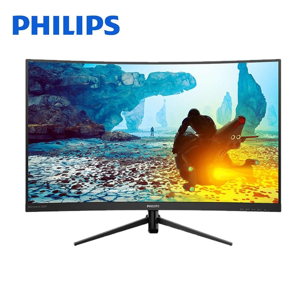 PHILIPS 32型 322M8CZ 曲面電競螢幕 顯示器 144Hz 1ms