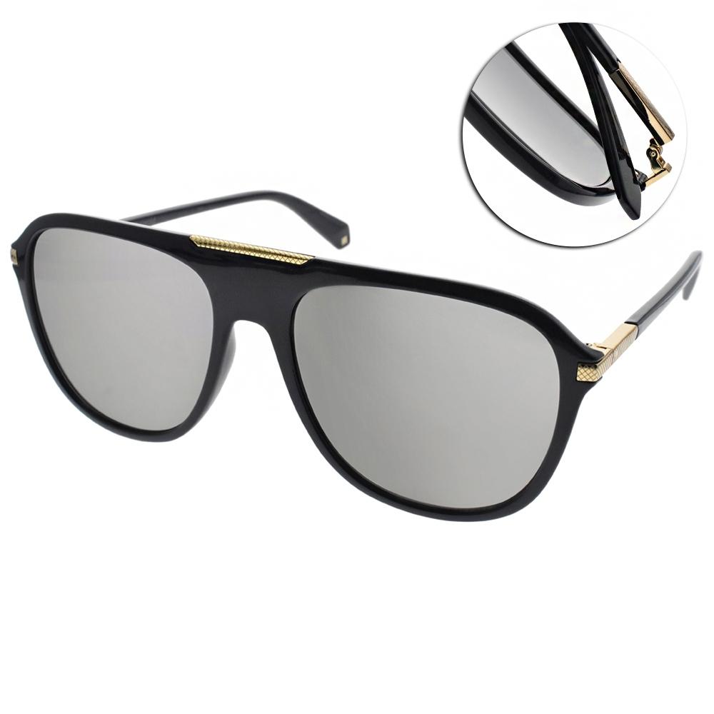 Polaroid 水銀偏光太陽眼鏡 男人味大框款/深藍金 #PLD2070SX PJPLM